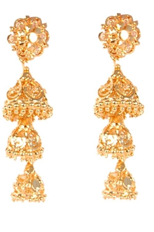 Fancy Gold Plated Earrings