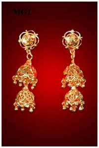 Gold Plated Fancy Earrings