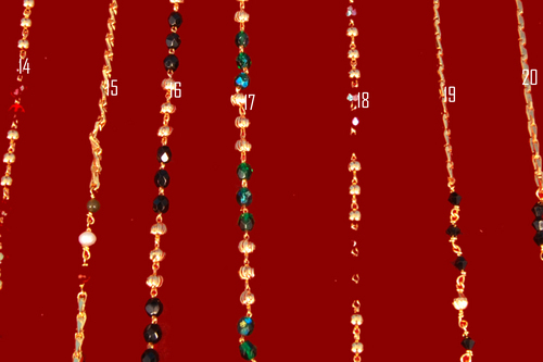 Gold Plated Beaded Chains