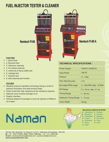 Fuel Injector Cleaner Machine