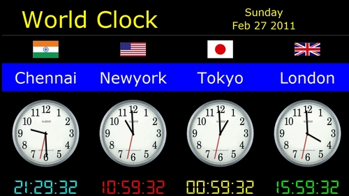 World Analog Clock