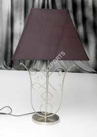 Designer Metal Lamp With Pewter Finish