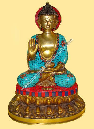 Engraved Buddha Statue