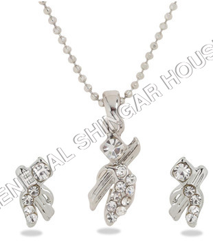 American Diamond Pendant Sets