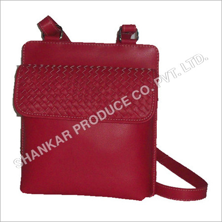 Leather Ladies Hand Woven Body Bag
