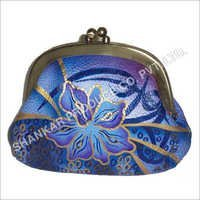 Leather Hand Painted Coin Purse