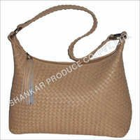 Leather Cross Weaved Handbags