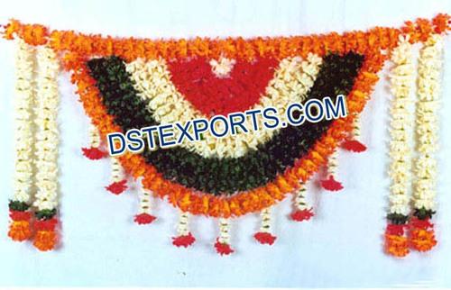 Indian Wedding Entrance Flower Decoration