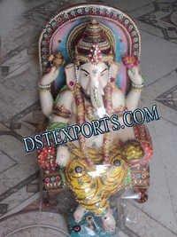 Wedding Singhasan Ganesha Statue