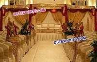 Indian Wedding Golden Carved Mandap