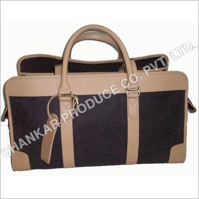 Leather Embossed Duffle Bag