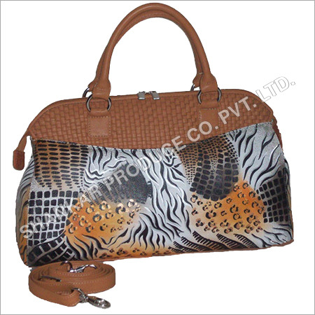 Leather Cross Weave Hand Bags