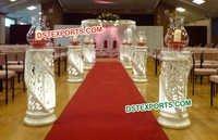 Wedding Fiber Crystal Aisle Way Pillars