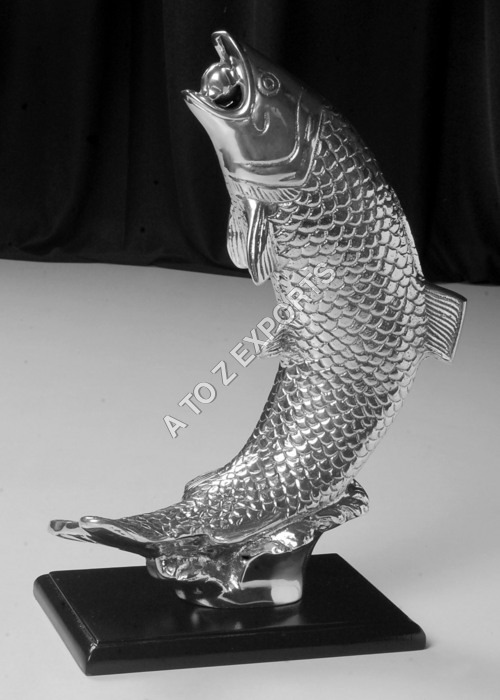 Aluminum Fish Table Lamp