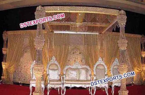 Latest Wedding Crystal Mandap Set