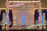 Latest Crystal Metal Mandap Set