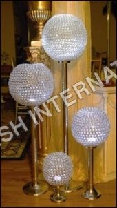 Decorative Crystal Ball Candelabra