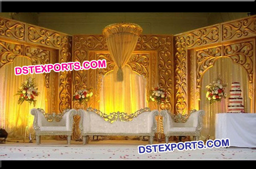 Asian Wedding Stage Fiber Backdrop Panels