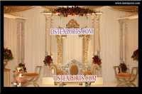 Latest Asian Wedding Wooden Pillar Stage Set