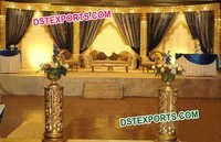 Muslim Wedding Golden Carved Stage Set