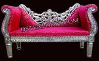 ASIAN WEDDING SILVER CARVED LOVE SEATER