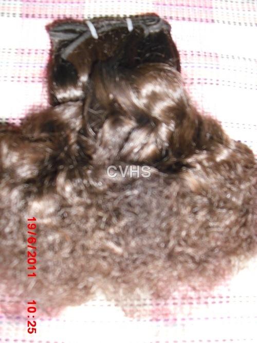 Natural black curly hair