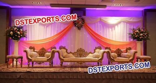 Asian Wedding Heavy Carved Sofa Set