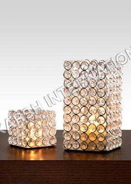 Square crystal votives