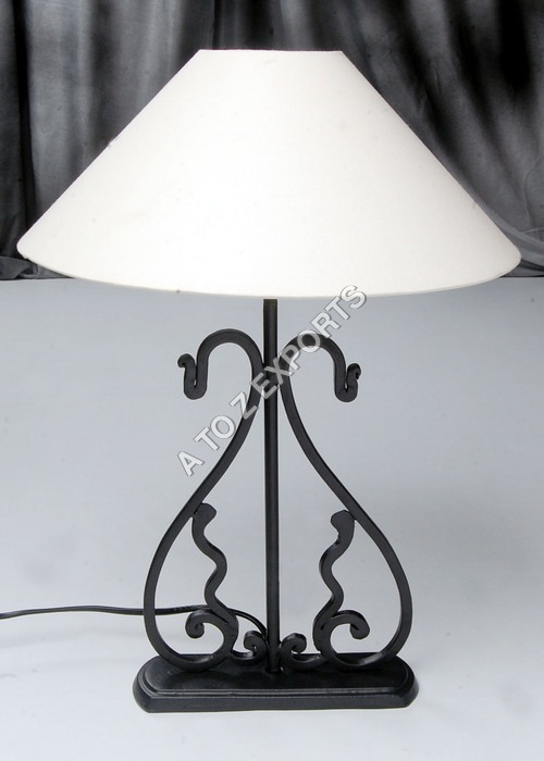 Black Powder Coated Iron Metal Lamp