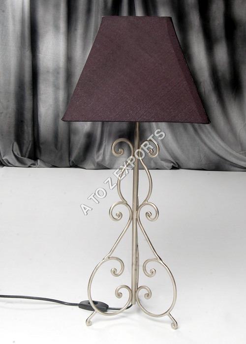 Pewter Finish Metal Lampshade