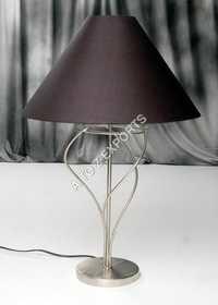 Pewter Finish Iron Lamps