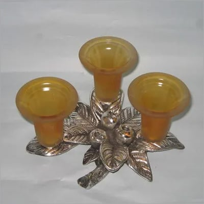 3 In1 Glass Candle Holder