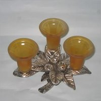 3 in1 Glass Candel Holder