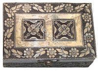 white metal handcrafted jewellery box