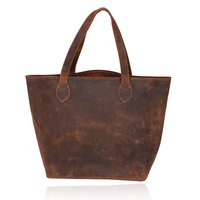 Leather oversized Tote
