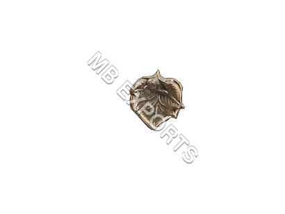 white metal leaf shape  diya