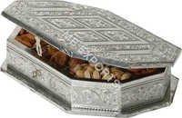 white metal dry fruit box