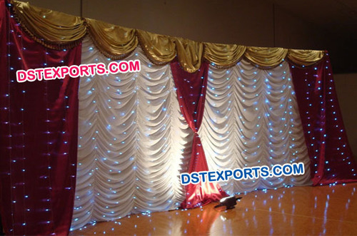Wedding Stage Lighted Colourful Backdrop