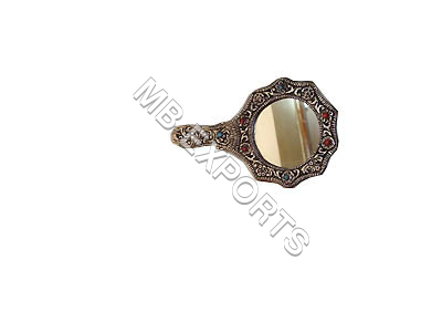 GERMAN SILVER FANCY HAND MIRROR