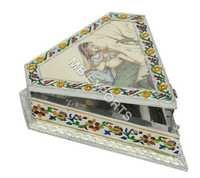 GERMAN SILVER TRIANGULAR GIFT BOX