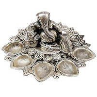 GERMAN SILVER FANCY DIYA STAND FOR DIWALI POOJA