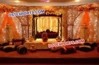 Asian Wedding Stage Carved Backdrop Panels