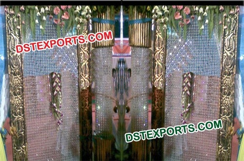 Indian Wedding Crystal Backdrop