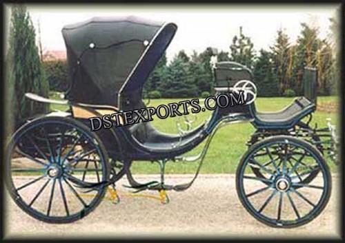 Black Victoria Horse Carriage