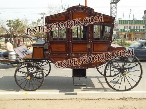 New Covered Horse Drawn Carriage