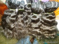 Indian Human Remy Curly Machine Weft