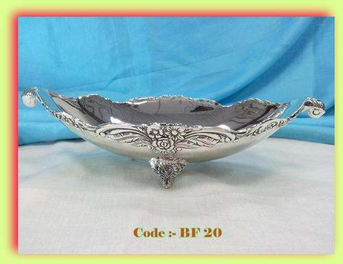 Silver Plated Oval Bowl