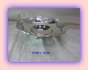 Silver Flower Shaped Bowl