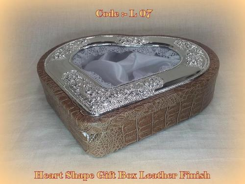 Heart shape Gift Box Leather finish