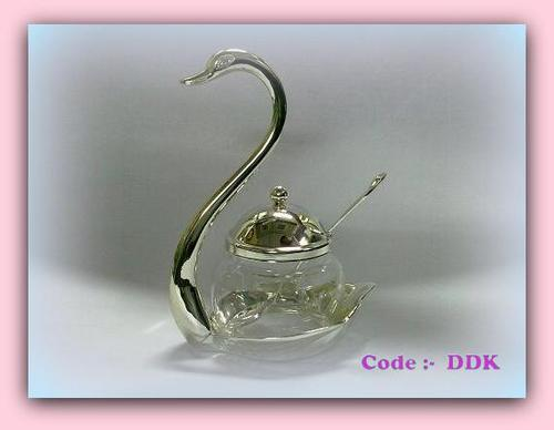 Duck with Glass Bowl & Spoon